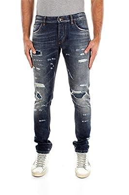 G6IALDG8R6S9001 Dolce&Gabbana Jeans Men Cotton Blue