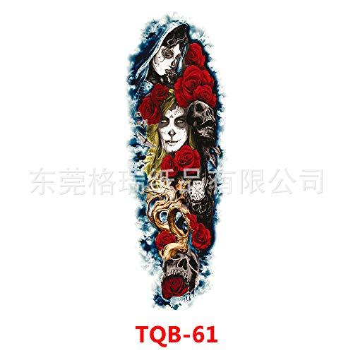tzxdbh 3Pcs-Full Arm Tattoo Aufkleber Arm Tattoo Aufkleber Einweg wasserdicht große Blume Arm 3Pcs-22