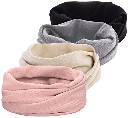 PaMaMi donna sciarpa invernale   loop sciarpa   15576  morbido tubo di maglia sciarpa calda sciarpa in maglia, rosa