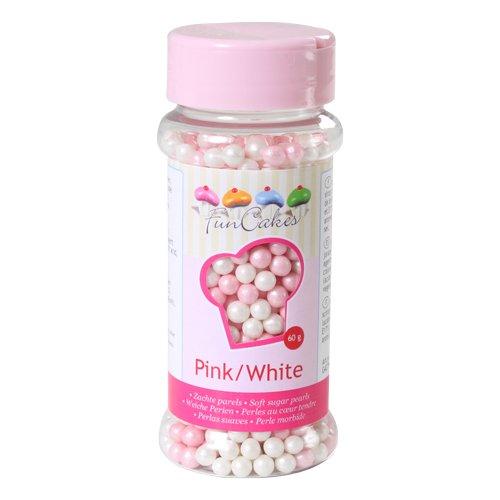 Cakes Supplies - Perles de Sucre Funcakes Rose & Blanc
