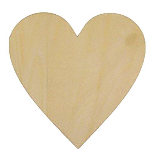 zentto 50Holz Herz Form, Crafts Scheiben Crafts DIY Tasten für Hochzeit Party Ornaments Dekorative Personalisierte Kreative Hochzeit 40 mm 40mm Heart*50pcs