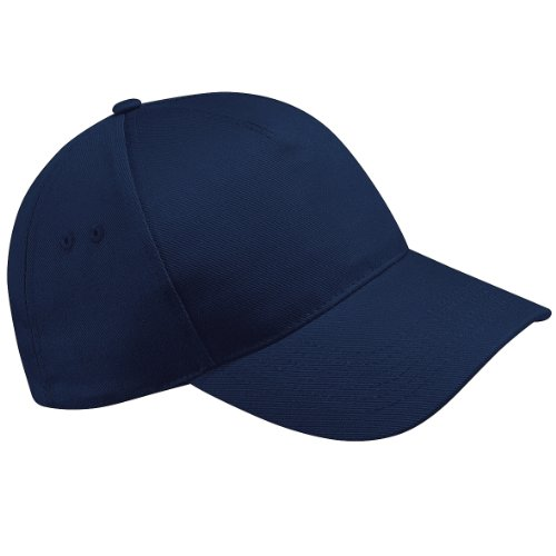 Beechfield - Casquette de Baseball 100% coton - Adulte unisexe (Taille unique) (Bleu marine)