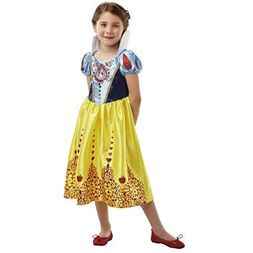 ney Princess Snow White Gem Kostüm, Mädchen, groß (Princess Halloween-kostüme)