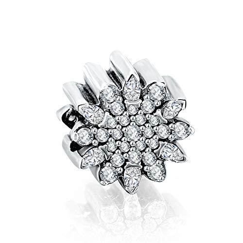 Zxx jewelry charm perline accessori per gioielli in argento con zirconi adatti per bracciale e collana