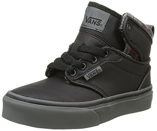 vans-atwood-hi-zapatillas-altas-infantil-negro-mte-flannel-black-bungee-cord-38-eu