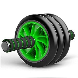 Good Times Bauchtrainer AB Roller Bauchroller Bauchmuskeltrainer mit Knieauflage, AB Wheel mit Kniematte für Fitness, Bauchmuskeltraining Muskelaufbau, Muskeltrainer mit Triple Rollen