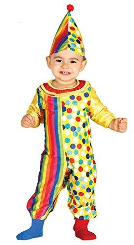 KINDERKOSTÜM - CLOWN - Größe 92-93 cm ( 12-24 Monate ) (Zirkus Clown Kleinkind Kostüme)