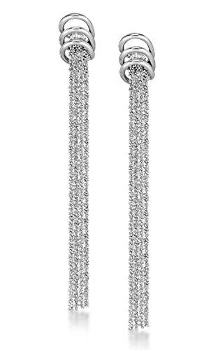 Tuscany Silver, Orecchini Pendenti da Donna in Argento Sterling 925, cod. 54.2119