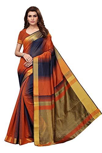 Sretan Women's Khadi Silk Kalamkari Print Sa...