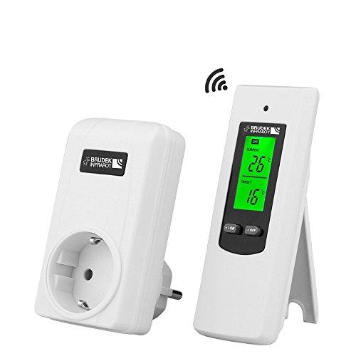 Brudek Infrarot Funk-Thermostat | mit 2x AAA-Batterien | für Infrarotheizungen, Elektroheizungen oder Klimaanlagen