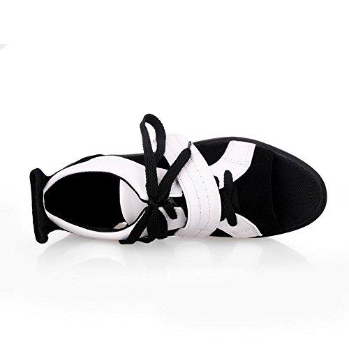 balamasa Bandage pour femme Style Preppy pumps-shoes givré Noir