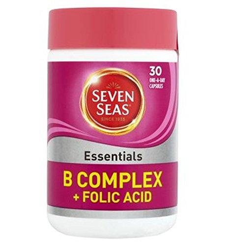 Seven SeasEssenziali Vitamina Del Complesso B Con Acido Folico 400?g - 30 Capsule Di Uno Al Giorno