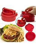 Dayalu Stufz Stuffed Burgers Patty Maker Hamburger Meat Press Machine Kitchen Cookware (Red)