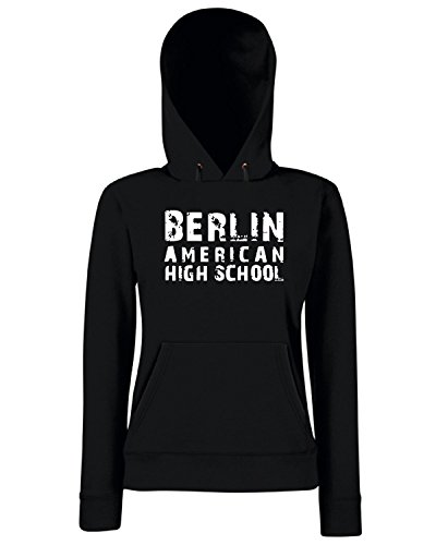 T-Shirtshock - Sweats a capuche Femme OLDENG00408 berlin american high school 1 Noir