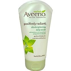 Aveeno Skin Brightening Daily Scrub, 5-Ounce(Pack Of 2)