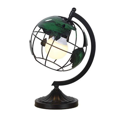 B-D Kreative Schmiedeeisen Globus Vertikale Tischleuchte E27 Hohle Metalllesung Stehende Schreibtischlampe Schlafzimmer Nachttischlampe Schreibtischleuchte, Tischlampe