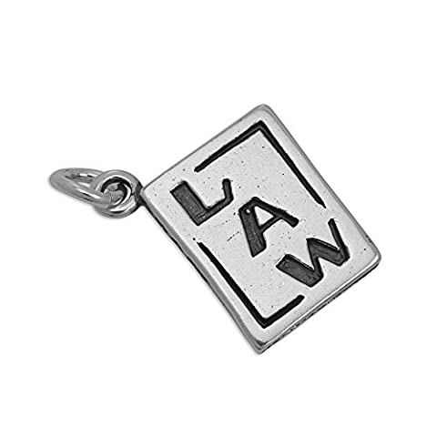 Sterling Silver Law Statute Book Charm