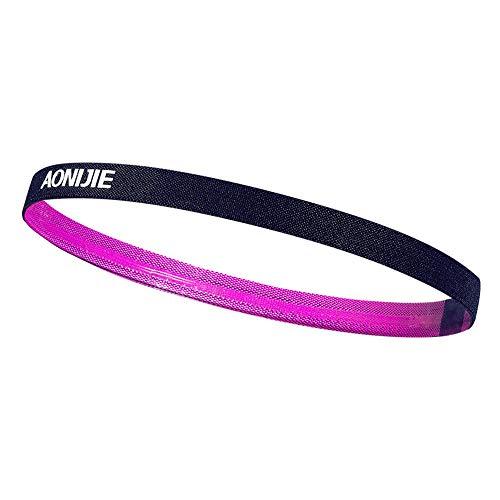 YYCOOL Rutschfeste Skinny Mini Stirnbänder Sport Haarbänder Silikon Schweißband für Leichtathletik Laufen Fußball Jogging Workout