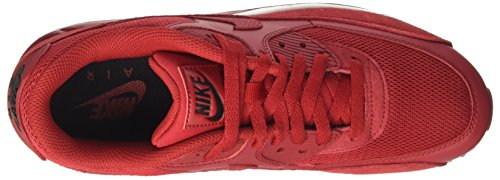 Nike Air Max 90 Essential, Baskets Mode Homme Rouge (Gym Red/gym Red/black/white)