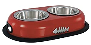 Buckingham Double Cat Bowl Red (2 X 0.22 Ltr) by BIIA4