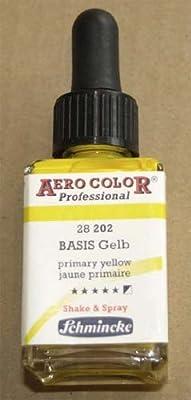 28ml Airbrushfarbe - von Schmincke - Aero Color Professional - Basis Gelb 28202 von Hobby, Sport + Freizeit bei TapetenShop
