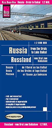 Russland-karte (Reise Know-How Landkarte Russland - vom Ural zum Baikalsee (1:2.000.000): world mapping project)