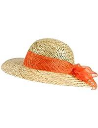 EveryHead Fiebig Paglietta Cappello Da Donna Onorevoli Di Paglia Estate  Spiaggia Dimensione Tondo Forma Con Colorato ad8685bef584