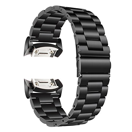 TRUMiRR Armband kompatibel mit Gear S2 Armband, Solid Edelstahl Armband Sport Strap Uhrenarmband mit Link Remover und Adapter für Samsung Gear S2 SM-R720 / SM-R730 (Sport-armbänder)