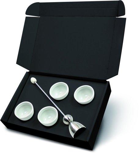 2 Stück Take2 Clack Keramik-Ei Geschenk-Box mit Eierschalen-Sollbruchstellen-Verursacher inkl. jeweils 4 Cupido Eierbechern -