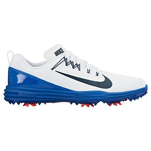 NIKE Lunar Command 2 Uomos Golf Turnschuhe 849968 Sneakers (UK 6.5 US 7.5 EU 40.5, White Navy Blue 103)
