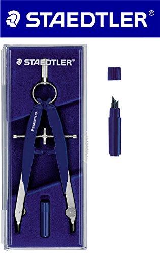 STAEDTLER Zirkel-Set (Zirkel + Ersatzminen, blau-silber)