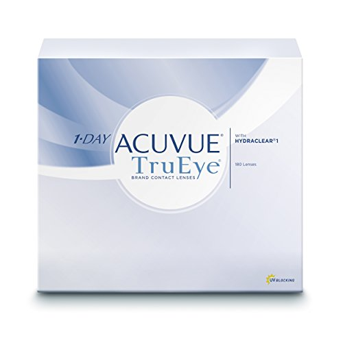 Acuvue 1-Day TruEye Tageslinsen weich, 180 Stück / BC 8.5 mm / DIA 14.2 mm / -1.00 Dioptrien