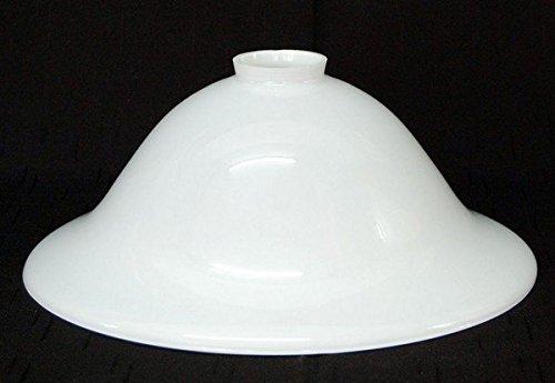 LMS Leuchten Beleuchtungsglas F-4987 Opal-Weiss H 11 cm/Ø 30 cm Lampenschirm Glas Jugendstil...