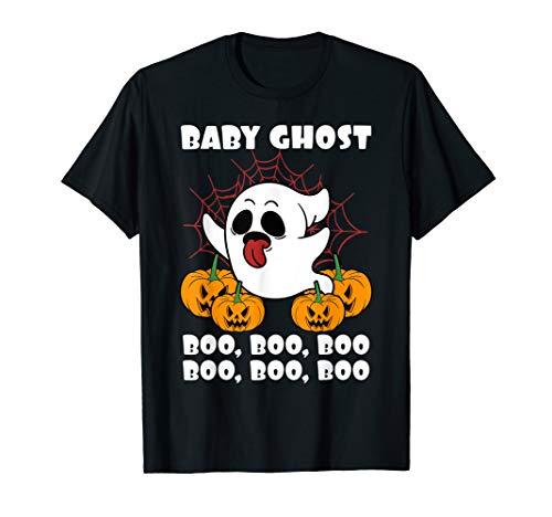 Boo Baby Kostüm - Halloween Baby Ghost Geist Boo Boo Boo Kürbis Kind Geschenk  T-Shirt