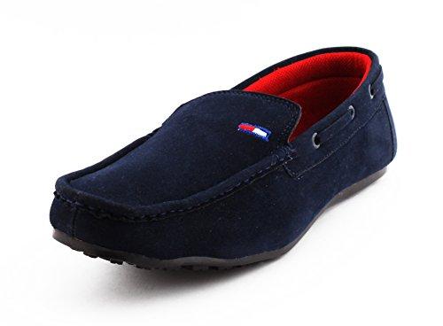 COGNAC Men's Blue Synthetic Loafers - 9 UK