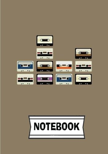 "Notebook: Cassette : Journal Diary, 110 Lined pages, 7"" x 10"""