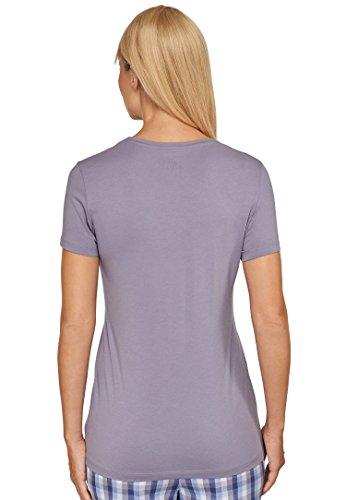 Michaelax-Fashion-Trade - T-shirt de sport - Uni - Manches Courtes - Femme hellgrau (204)