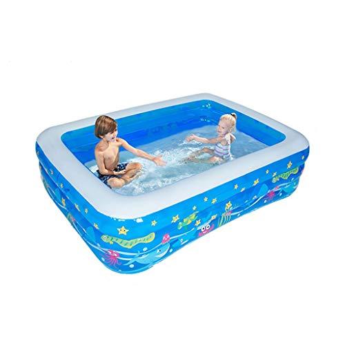 LYM & aufblasbarer Pool Gartenpool im Freien, Planschbecken für Erwachsene, Verschiedene Größen, faltbar und tragbar Pool aufblasbar (Size : 210cm)