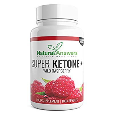 Wild Raspberry Ketones Super Ketone Plus Trim Biofit Range Vegetarian Tablets with apple cider vinegar pure natural ingredients advanced diet pills max strength for weight loss. (180 Capsules / 3 Months) by Natural Answers