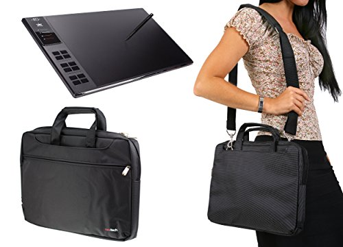 Navitech Étui de tablette graphique noir / sac pour le Huion Giano WH1409