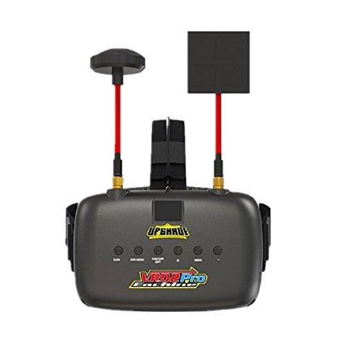 crazepony-uk EACHINE FPV Brillen VR D2 Pro Upgraded 5,8 g 40 CH 12,7 cm 2S 7,4-8,4 V mit DVR Objektiv verstellbar (EACHINE Brillen)