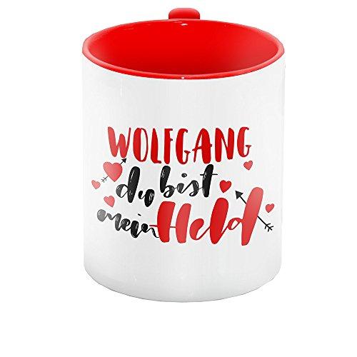 Lettering-Text - Wolfgang du bist mein Held - für Verliebte zum Valentinstag | Liebes-Tasse für Paare ()