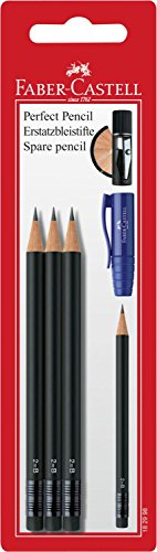 Faber-Castell 182998 - Ersatzbleistifte Perfect Pencil refill, 3 Stück (Faber Castell Perfekter Bleistift)