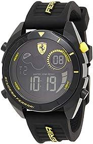 Scuderia Ferrari Men's Black Dial Black Silicone Watch - 83