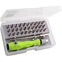 Tec Tavakkal 32 in 1 Interchangeble Multipurpose Mini Screwdriver Set Magnetic Slot Wrench Bits Repair Tools Kit Set…