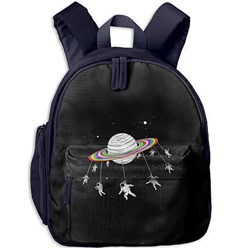 Satellite Revolving Trojan Horse Toddler Kids Pre School Bag Cute 3D Print Children School Backpack