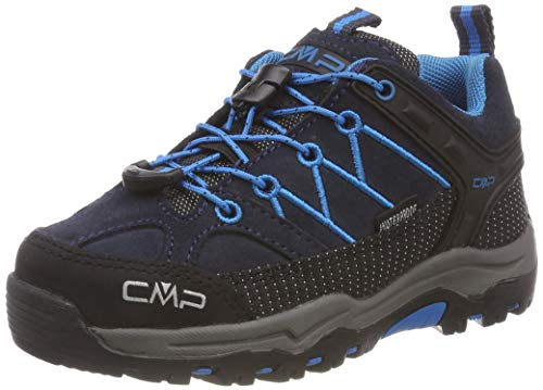CMP Unisex-Kinder Rigel Low Trekking- & Wanderhalbschuhe, Grau (Asphalt-Cyano 92bh), 30 EU