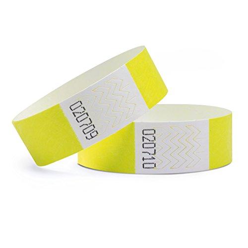 linie zwo®, 100er Pack Securebänder Tyvek® 19 mm, Neongelb