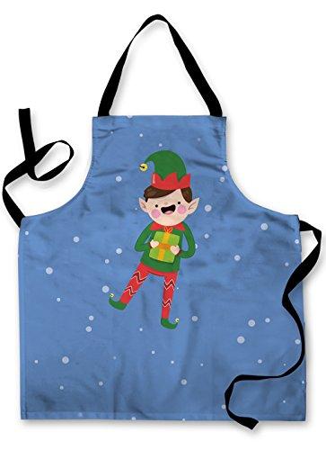 L&S PRINTS Kinder Weihnachten Wasserdicht Schürze Backen Malerei Play 6Cartoon Charakter Designs Elf Boy