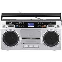 Trevi RR 504 BT Radio Registratore Stereo Bluetooth, USB, Funzione Encoding e Autostop, Grigio